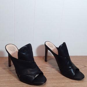Vince Camuto leather peep toe mule high heels